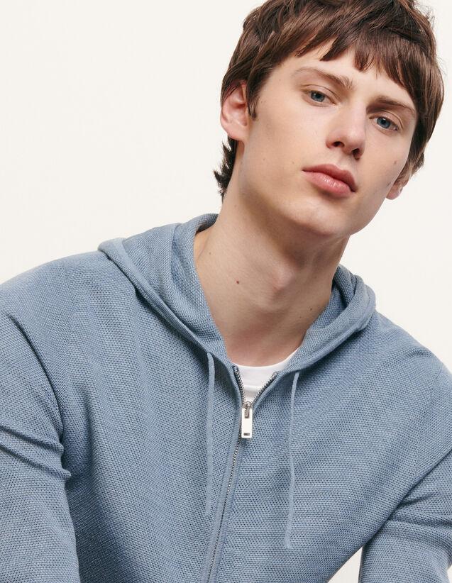 Cárdigan con capucha : Jerseys & Cárdigans color Gris azulado