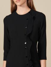 Vestido cruzado corto : -40% color Negro
