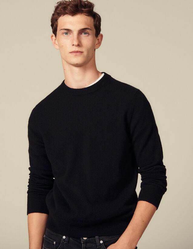 Jersey de cachemira con hilo doble : Jerseys & Cárdigans color Negro
