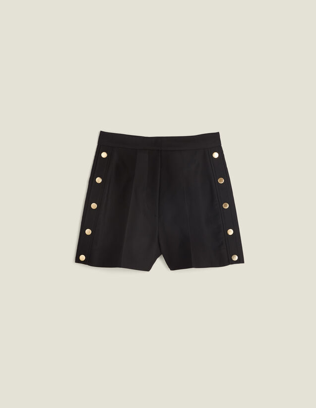 Short Con Botones Automáticos : Faldas & Shorts color Negro