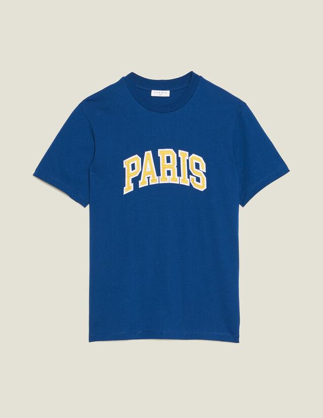 Camiseta Con Parche Con Mensajes : Camisetas & Polos color Azul
