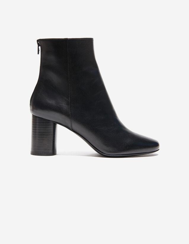 Botines De Piel : Todos Zapatos color Negro