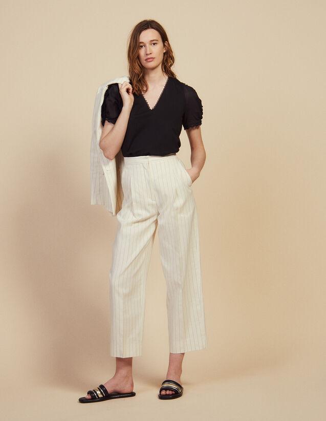Pantalón De Sastre De Corte Ancho : Pantalones color Blanco