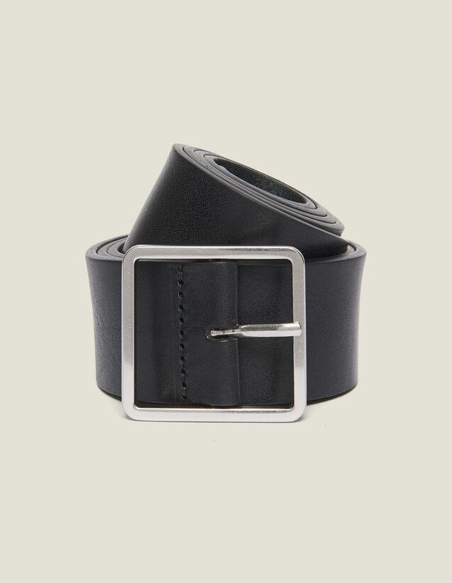 Cinturón De Piel : Cinturones color Negro