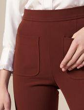 Pantalón de sastre evasé : Pantalones color Tabaco