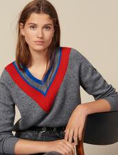 Jersey De Gran Escote Con Pasamanos : Jerseys & Cárdigans color Gris