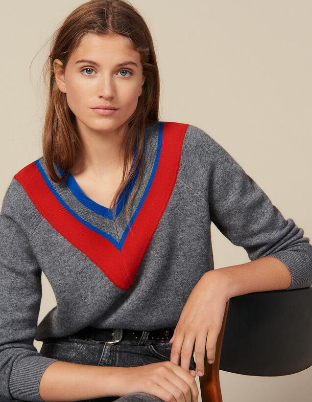 Jersey De Gran Escote Con Pasamanos : FBlackFriday-FR-FSelection-Pulls&Cardigans color Gris