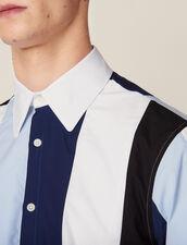 Camisa De Rayas Multicolor : SOLDES-CH-HSelection-PAP&ACCESS-2DEM color Azul