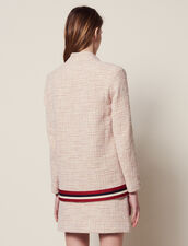 Chaqueta Tipo Cárdigan De Tweed : null color Rosa