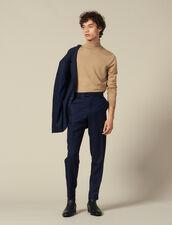 Pantalón de traje de lana : Trajes & Smokings color Marino