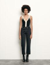 Body bicolor de tirantes de punto : Tops & Camisas color Negro