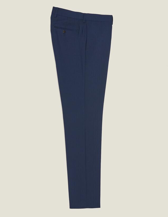 Pantalón De Traje De Lana Mohair : Trajes & Smokings color Azul