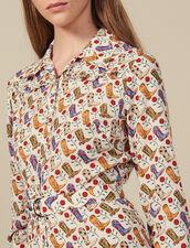 Vestido camisero estampado : Vestidos color Multicolor