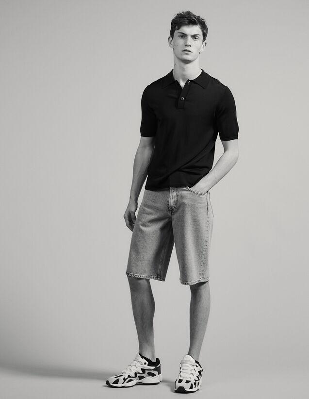 Polo de punto fino de manga corta : Camisetas & Polos color Marino