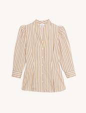 Camisa de rayas fantasía : Tops & Camisas color Rose / Jaune