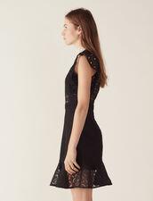 Vestido De Encaje Con Transparencias : null color Negro