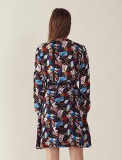 Vestido Fluido Con Estampado : null color Negro