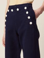 Pantalón Marinero : Pantalones color Marino