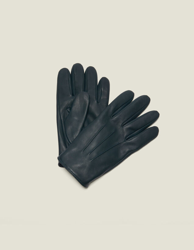 Guantes de piel : Guantes & Gorros color Negro