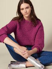 Jersey De Punto Con Juego De Puntos : Jerseys & Cárdigans color Fushia
