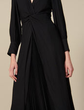 Vestido largo drapeado : FBlackFriday-FR-FSelection-50 color Negro