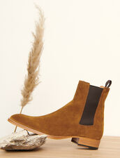Botines Chelsea de ante : Zapatos color Caramelo