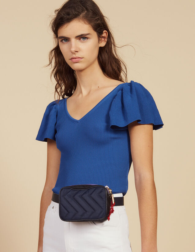 Top Ajustado De Punto : Tops & Camisas color Azul