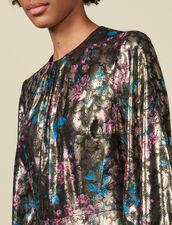 Vestido largo de jacquard de lúrex : Vestidos color Multicolor
