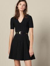 Vestido De Punto Con Perlas Pequeñas : FBlackFriday-FR-FSelection-Robes color Negro