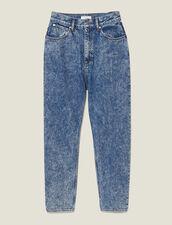 Vaquero desteñido efecto nieve : Vaqueros color Bleu jean