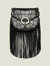 Bolso Pépita Modelo Pequeno Con Flecos : Lo mejor de la temporada color Negro