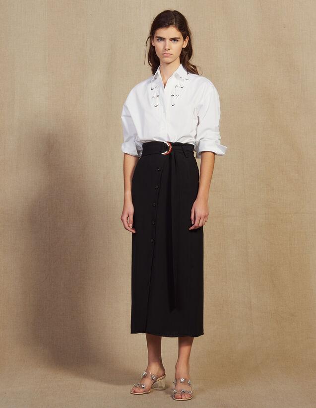 Falda Larga Cruzada : Faldas & Shorts color Negro