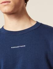 Sudadera Con Logotipo Bordado : SOLDES-CH-HSelection-PAP&ACCESS-2DEM color Azul acero