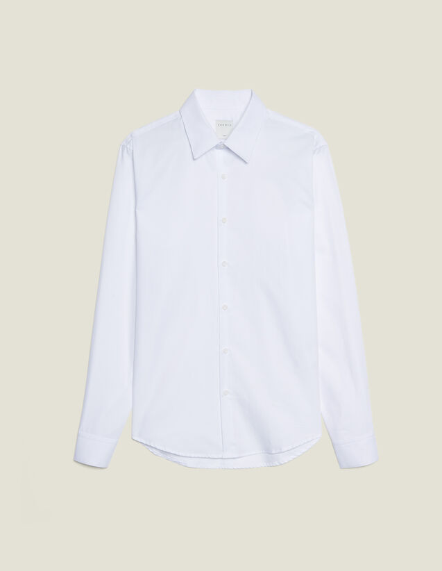 Camisa Formal De Tejido Oxford : Camisas color Blanco