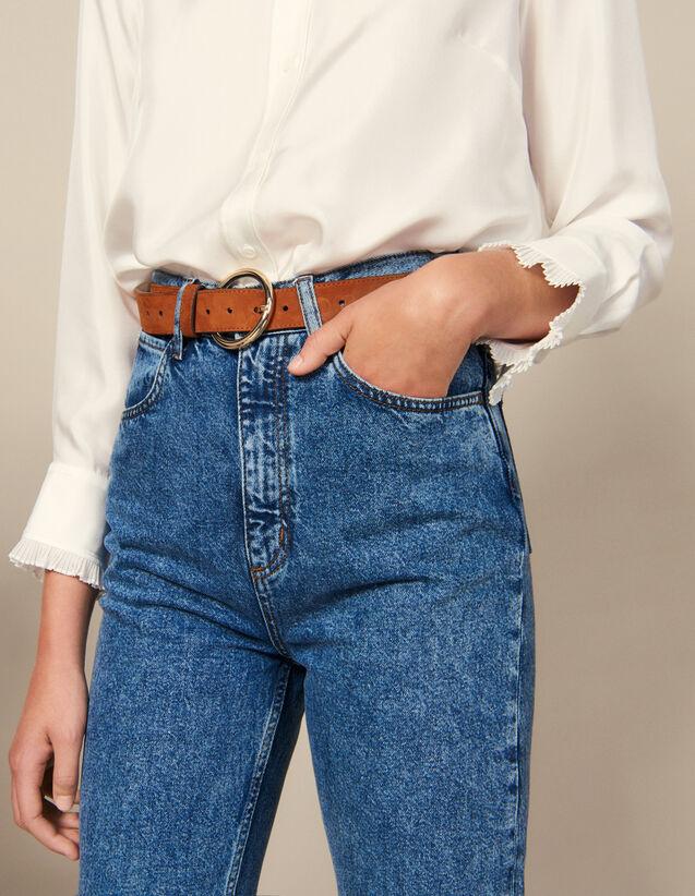 Cinturón de piel : Cinturones color Havane