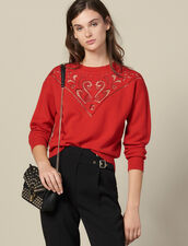 Jersey De Cuello Alto Con Canesú : FBlackFriday-FR-FSelection-Pulls&Cardigans color Rojo