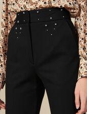Pantalón con cinturón con tachuelas : FBlackFriday-FR-FSelection-Pantalons&Jeans color Negro