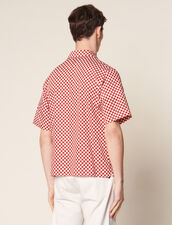 Camisa Manga Corta Damera Tejido Japonés : Sélection Last Chance color Rojo