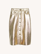 Falda de piel metalizada : Faldas & Shorts color Gold