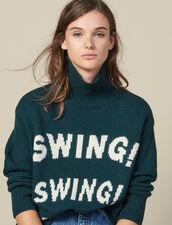 Jersey De Cuello Vuelto Con Mensaje : FBlackFriday-FR-FSelection-Pulls&Cardigans color Verde