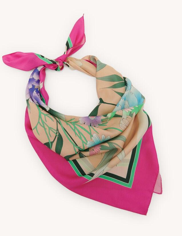 Fular de seda : Bufandas color Fucsia