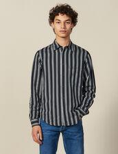 Camisa Fluida De Rayas : Colección de invierno color Marino