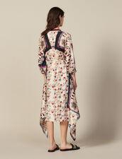 Vestido Asimétrico Estampado Adornado : null color Multicolor