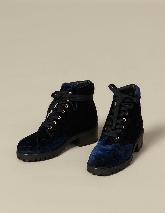 Rangers de terciopelo acolchado : Todos Zapatos color Marino