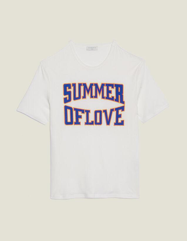 Camiseta Con Cortes En Los Hombros : Camisetas color Blanco