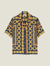 Camisa Estampada De Manga Corta : null color Marino