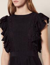 Vestido Largo Fluido Sin Mangas : null color Negro