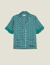 Camisa Estilo Pijama Estampada : null color Verde