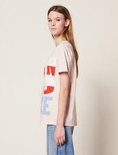 Camiseta Con Mensaje Born To Love : null color Rosa
