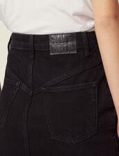 Falda Corta Vaquera : Faldas & Shorts color Negro